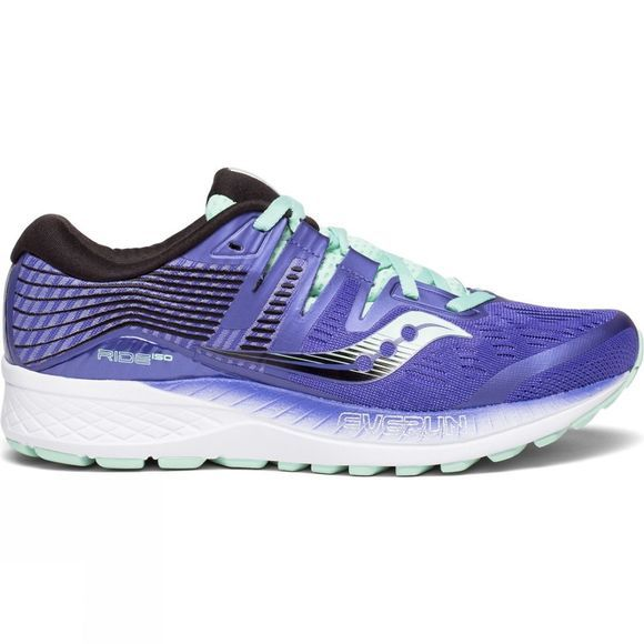 Saucony Womens Ride ISO Violet/Black/Aqua