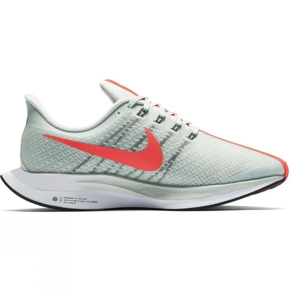Nike Womens Zoom Pegasus 35 Turbo Barely Grey/Hot Punch-Black-White