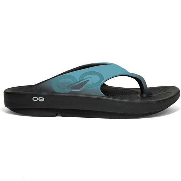OOFOS Womens OOriginal Sport Black/Acqua
