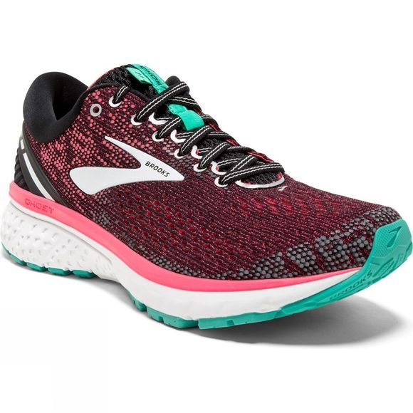 Brooks Womens Ghost 11 Narrow Black/Pink/Aqua