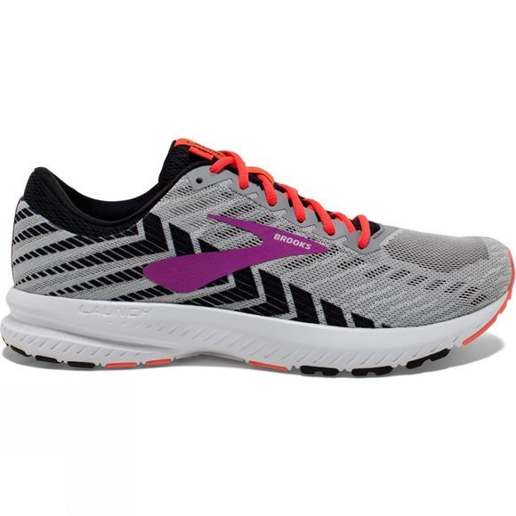 Brooks Womens Launch 6 Grey/Black/Purple