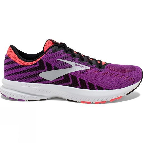 Brooks Womens Launch 6 Purple/Black/Coral