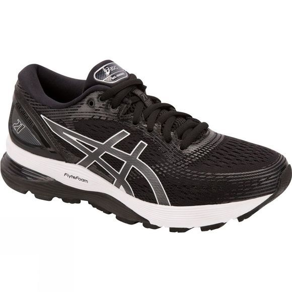 Asics Womens Gel-Nimbus 21 Black/Dark Grey