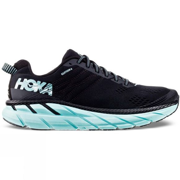 Hoka One One Women's Clifton 6 Black / Aqua Sky