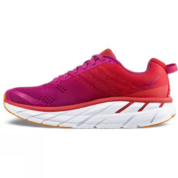 Hoka One One Women's Clifton 6 Poppy Red / Cactus Flower