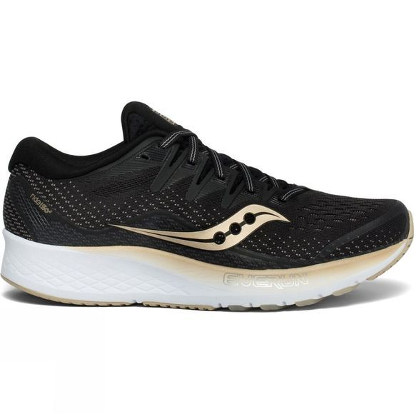 Saucony Womens Ride ISO 2 Black/Gold