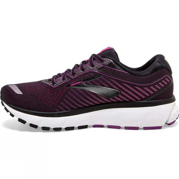 Brooks Women's Ghost 12 Black/Hollyhock/Pink