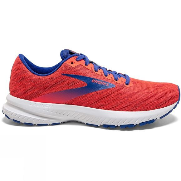 Brooks Womens Launch 7 Coral/Claret/Blue