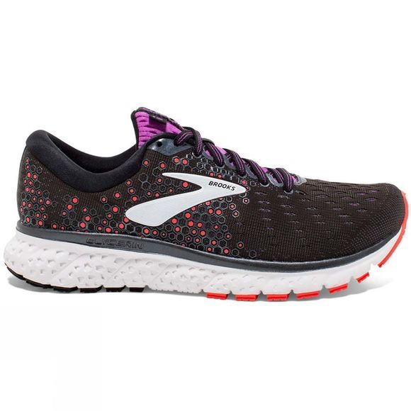 Brooks Women's Glycerin 17 Wide Black/Fiery Coral/Purple