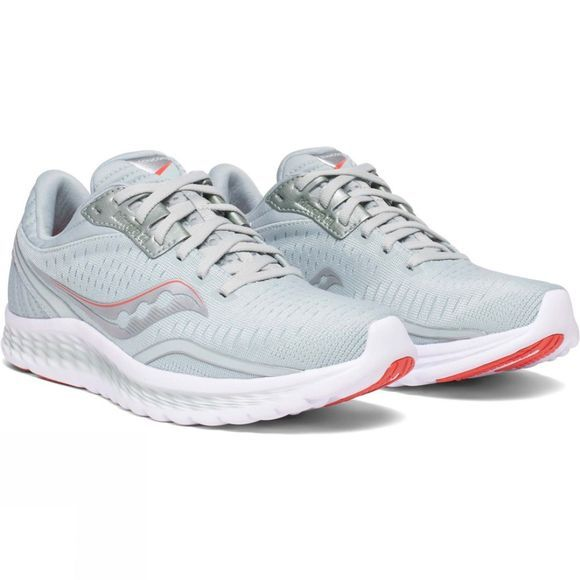 Saucony Womens Kinvara 11 Shoe Grey/Coral
