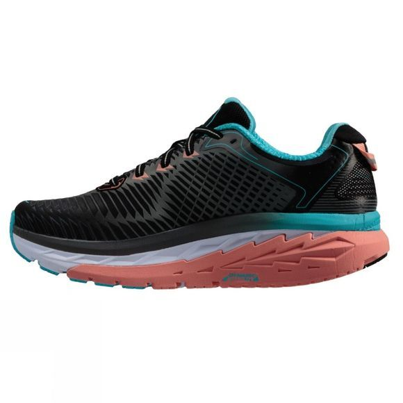 Hoka One One Womens Arahi Black / Peach Amber