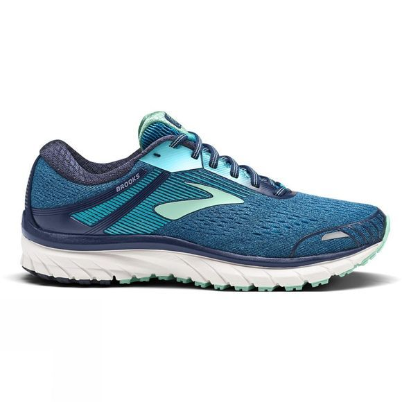 Brooks Womens Adrenaline GTS 18  - Wide Navy/Teal/Mint