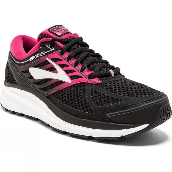 Brooks Womens Addiction 13 Narrow Black/Pink/Grey