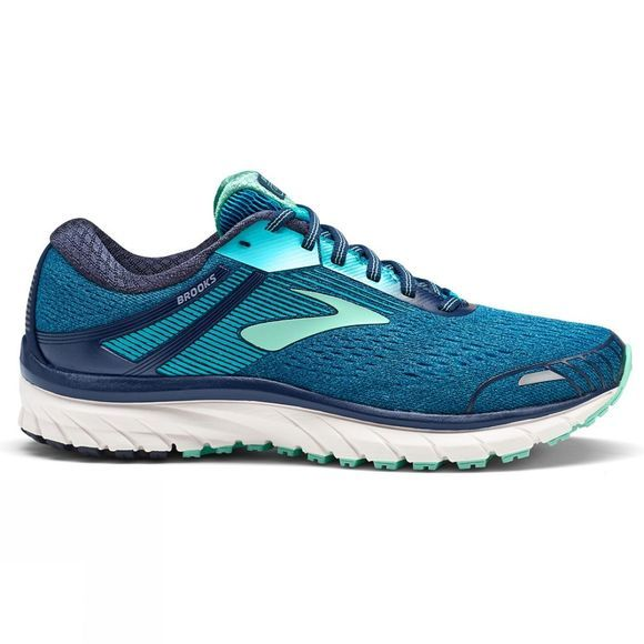 Brooks Womens Adrenaline GTS 18 Narrow Navy/Teal/Mint