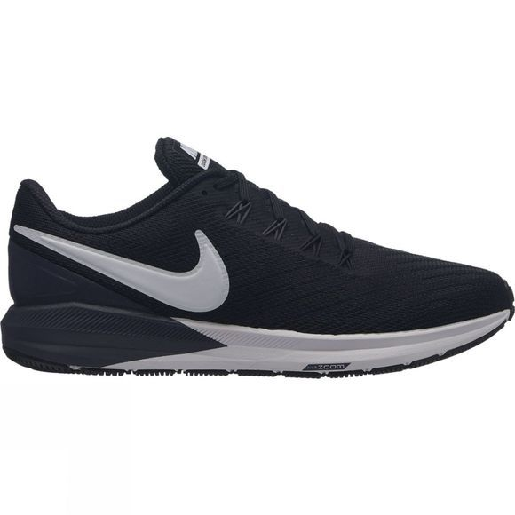 Nike Womens Air Zoom Structure 22 Black/White-Gridiron
