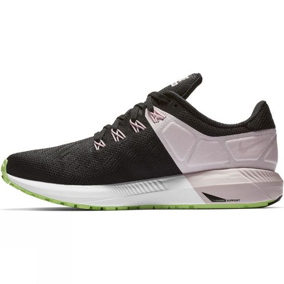 Nike Womens Air Zoom Structure 22 Black/Vast Grey-Pink Foam -Lime Blast
