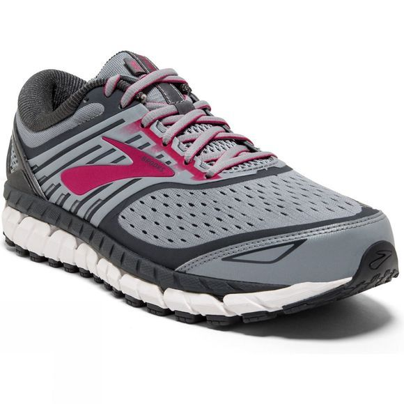 Brooks Womens Ariel '18 Wide  Grey/Grey/Pink