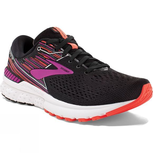 Brooks Womens Adrenaline GTS 19  Black/Purple/Coral