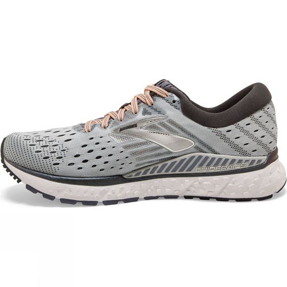 Brooks Womens Transcend 6 Grey/Pale Peach/Silver
