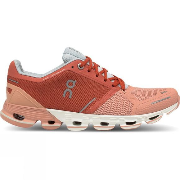 On Women's Cloudflyer Ginger/White