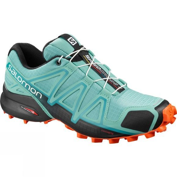 Salomon Women's Speedcross 4 Meadowbrook/Black/Exotic Orange