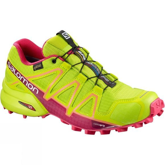 Salomon Women's Speedcross 4 Gore-Tex Lime Green/Virtual Pink/Bird Of Paradise