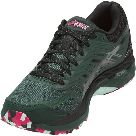 Asics Womens GT-2000 5 Trail PlasmaGuard Hampton Green/Black/Cosmo Pink