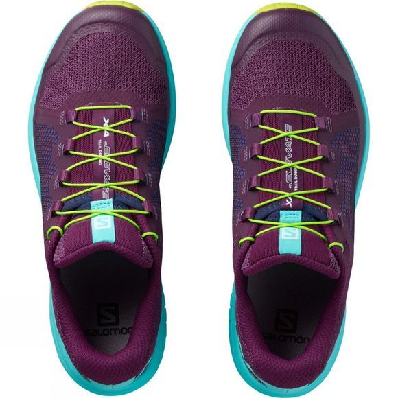 Salomon Womens Xa Elevate Shoe Dark Purple/Blue Curacao/Acid Lime