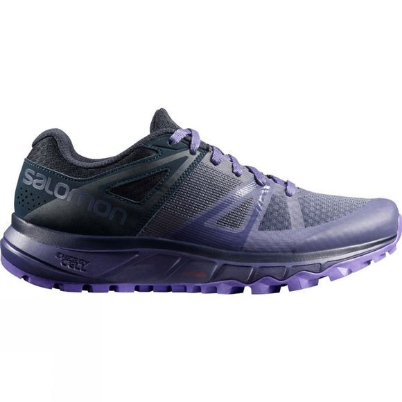 Salomon Women's Trailster Running Shoe Crown Blue/Navy Blazer/Purple Opulence