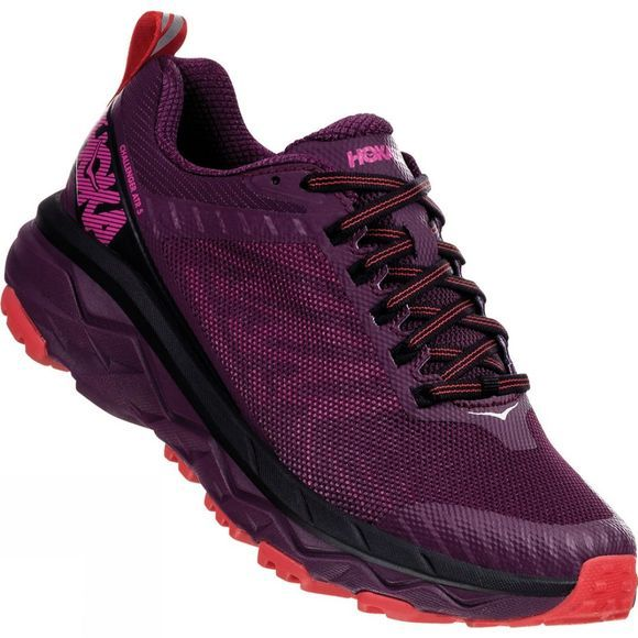 Hoka One One Womens Challenger ATR 5 Italian Plum/ Poppy Red