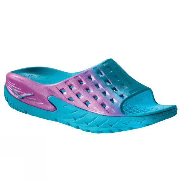 Hoka One One Women's Ora Recovery Slide Blue Atoll/Pink