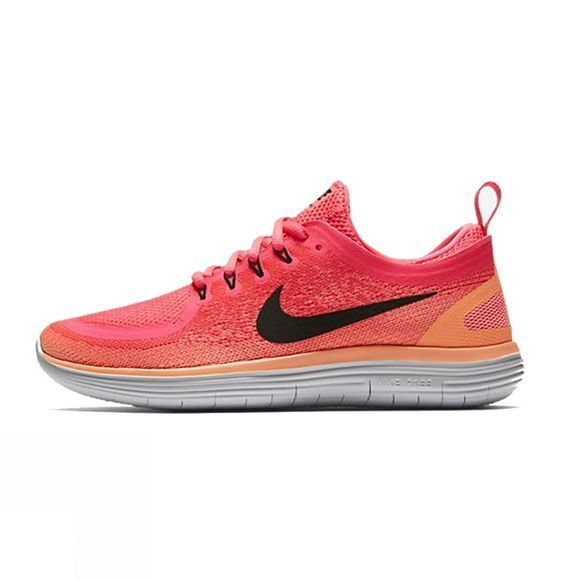 Nike Women's Free RN Distance RACER PINK/BLACK-LAVA GLOW-HOT PUNCH