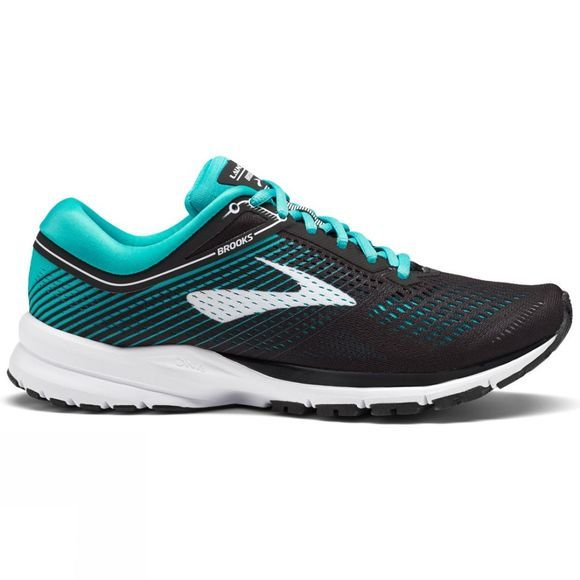 Brooks Womens Launch 5 Black/Teal Green/White