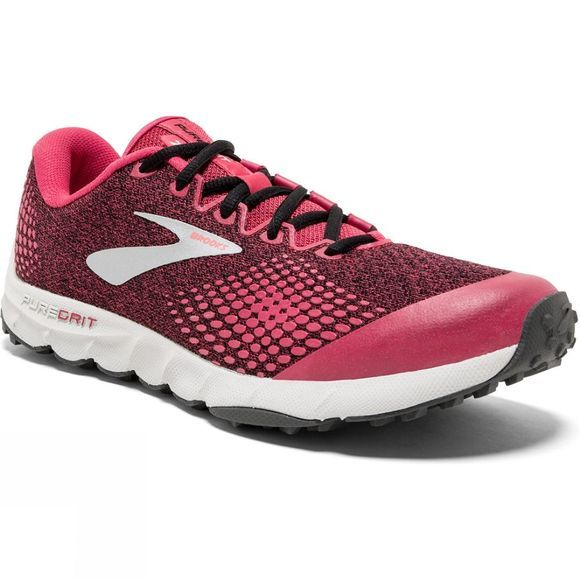 Brooks Womens PureGrit 7  Pink/Black/Grey
