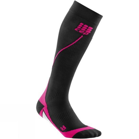 CEP  Women's Compression Run Socks Black          /Mid Pink