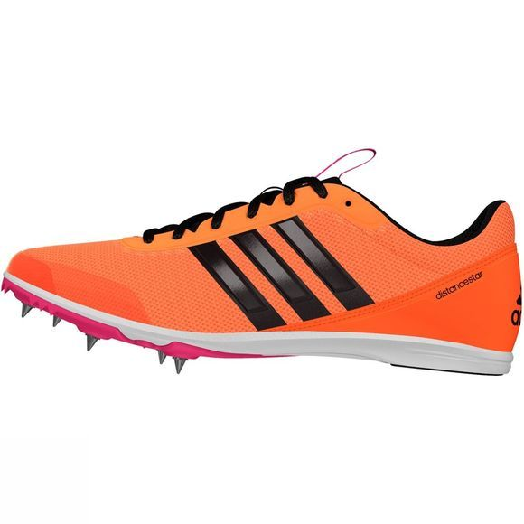 Adidas Women's Distancestar Running Spikes Glow Orange S14/Core Black/Shock Pink S16