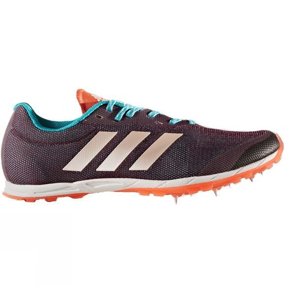 Adidas Womens XCS 7 Spike Shoes Red/Night