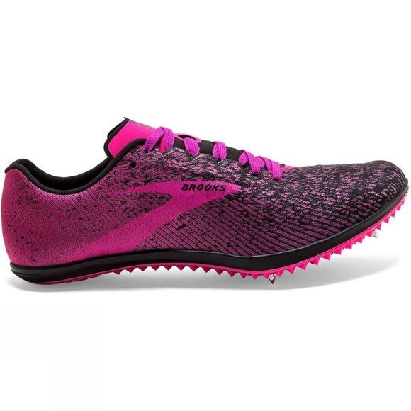Brooks Women's Mach 19 Spike Black/Hollyhock/Pink