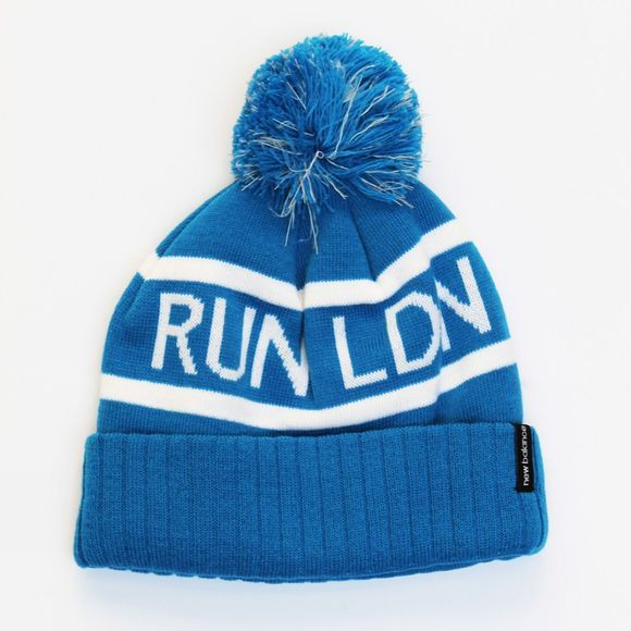 New Balance London Edition Pom Beanie Blue