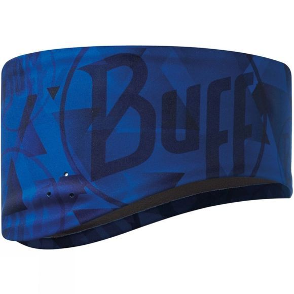 Buff Windproof Headband Tip Logo Blue