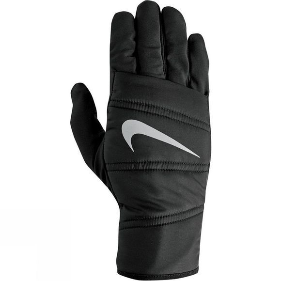 Nike Mens Quilted Run Gloves Black/Silver