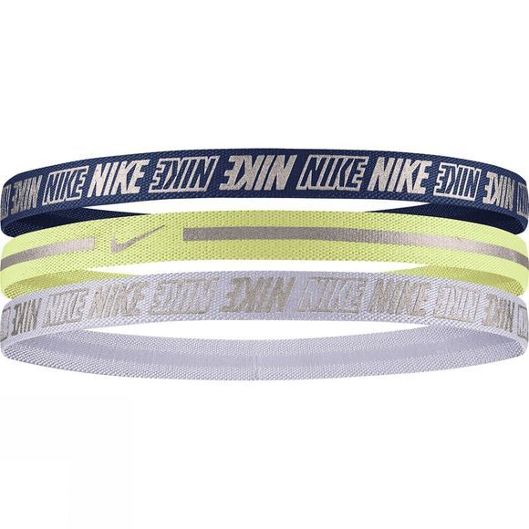 Nike Metallic Headbands 3 Pack Valerian Blue/Limelight