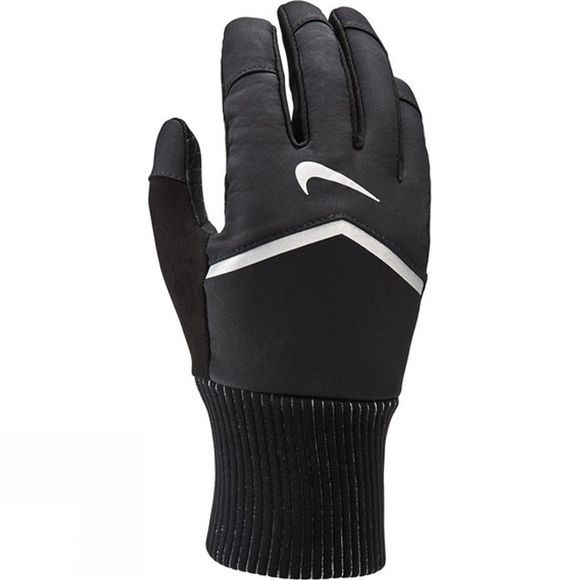 Nike Womens Shield Running Gloves Black/Wolf Grey/Silver