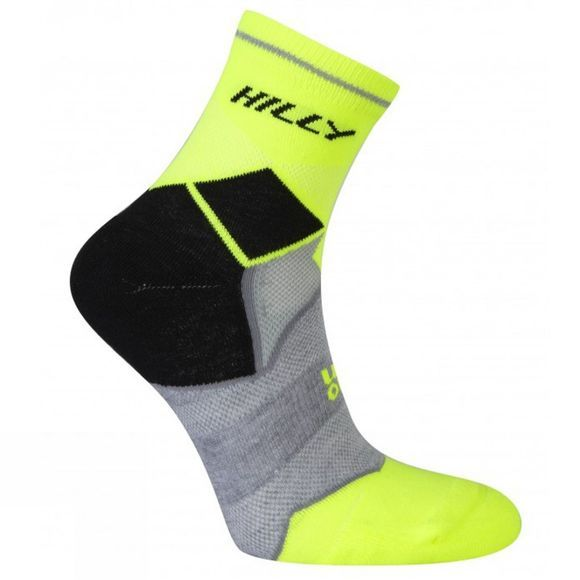 Hilly Photon Anklet Black / Fluo Yellow