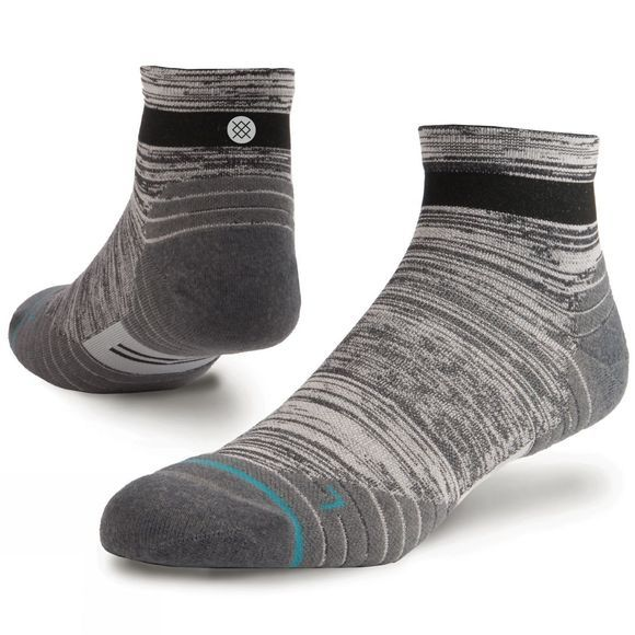 Stance Mens Uncommon Solids Qtr Socks Charcol
