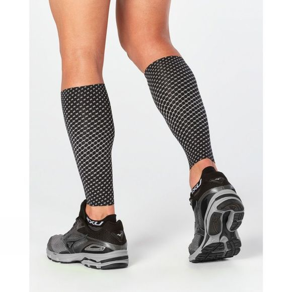 2XU Reflect Compression Calf Guard Black/Silver