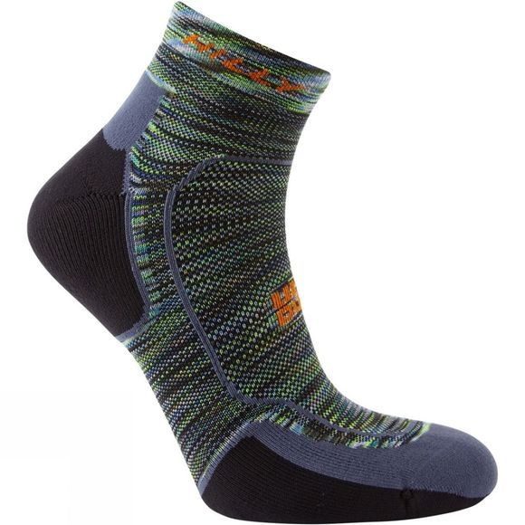 Hilly Lite Comfort Quarter Sock Chameleon/Black