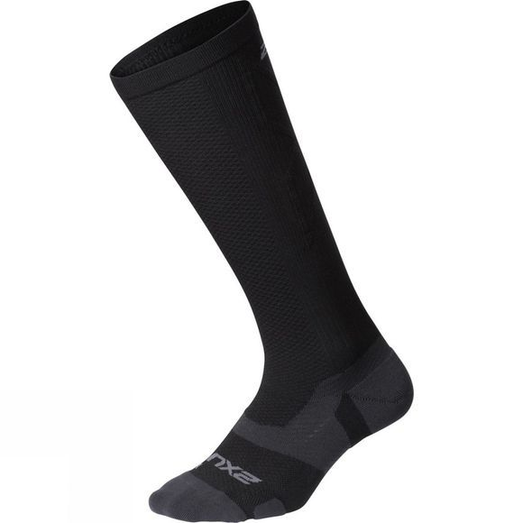 2XU Unisex Vector Light Cushion Knee High Socks Black/Titanium