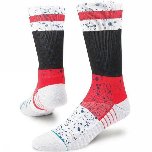 Stance Mens Rain Crew Socks Red