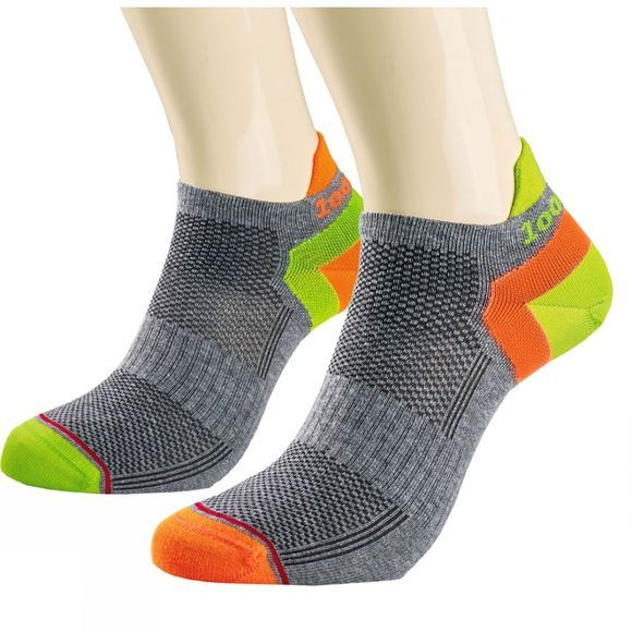 1000 Mile Trainer Liner Special Edition Sock Grey/Yellow/Lime